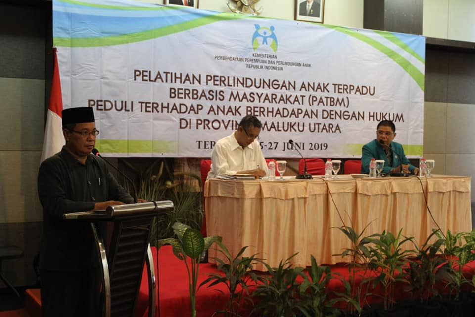 Asisten I Setda Malut, Buka Pelatihan PATBM di Malut Tahun 2019