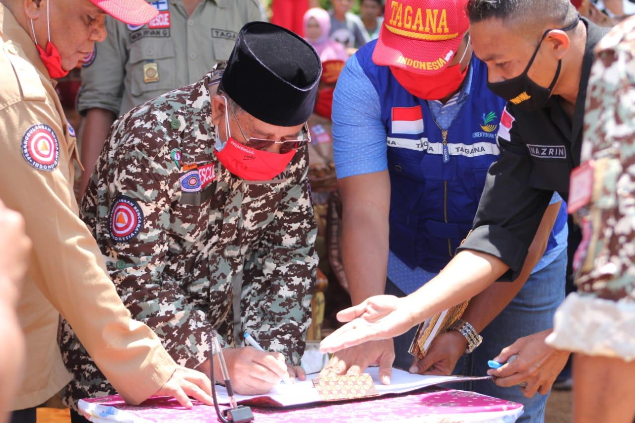 Gubernur Maluku Utara Mengukuhkan FK-TAGANA Provinsi Maluku Utara