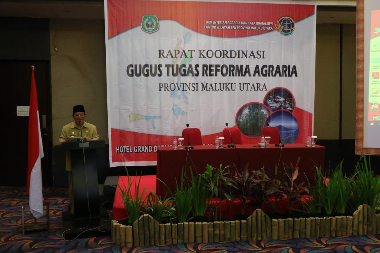 Gubernur Malut Buka Rakor Penyelenggaraan Reform Agraria