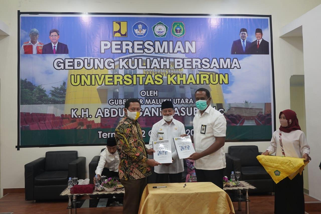 Resmi Gedung Kuliah Baru, Gubernur Apresiasi Kerja Rektor Unkhair dan Kepala Balai Cipta Karya
