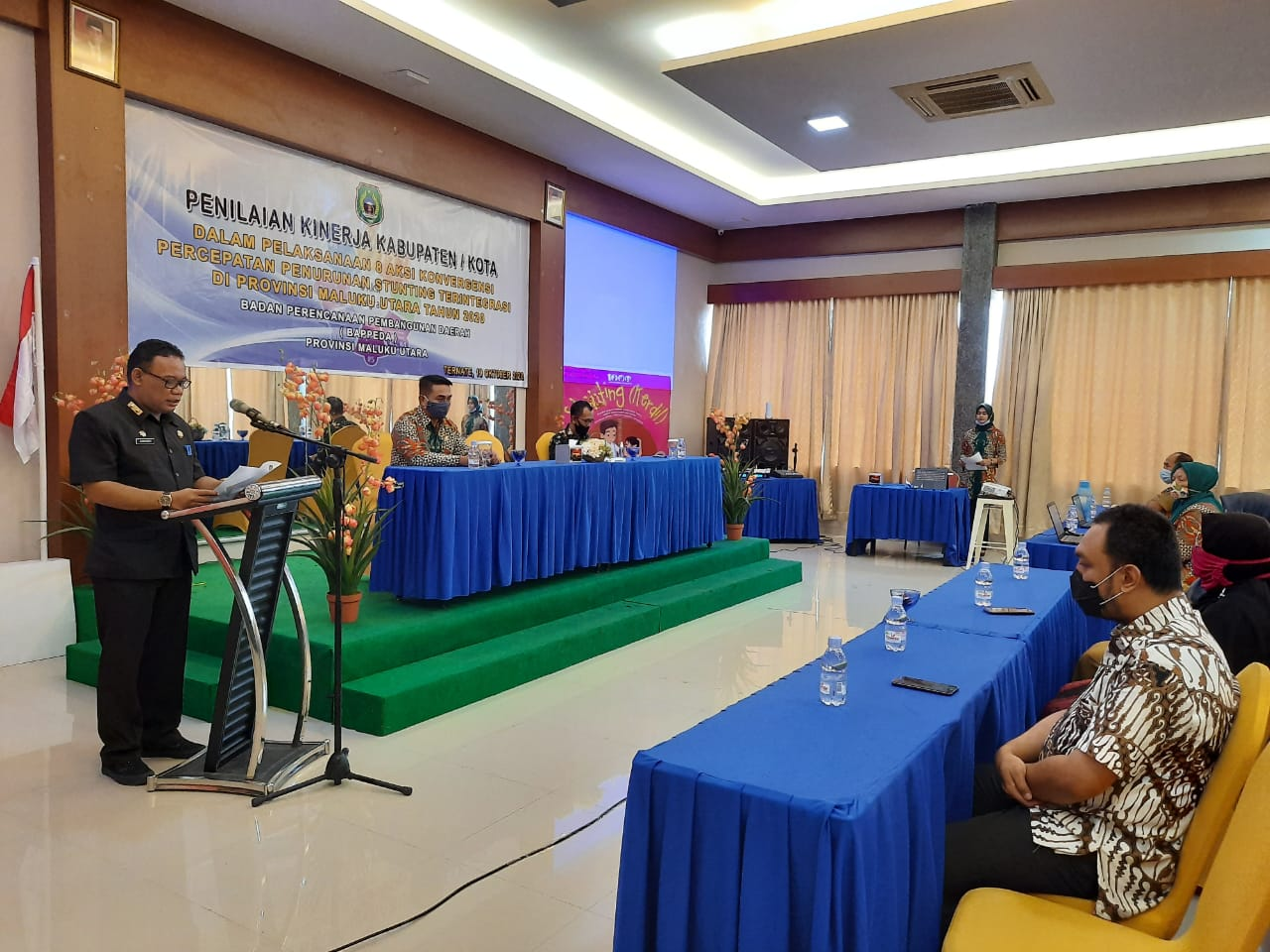 Sekprov Buka Kegiatan Penilaian Kinerja Kabupaten 8 Aksi Konvergensi Percepatan Penurunan Stunting di Malut