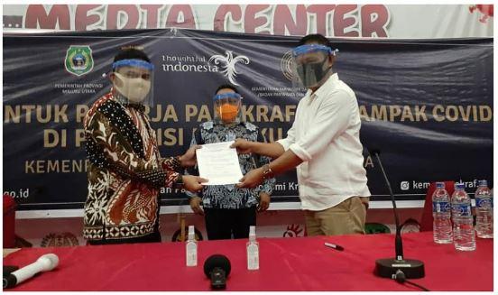 Penyerahan Bantuan BALASA (Beras dan Lauk Pauk siap Saji) ke Pemerintah Provinsi Maluku Utara