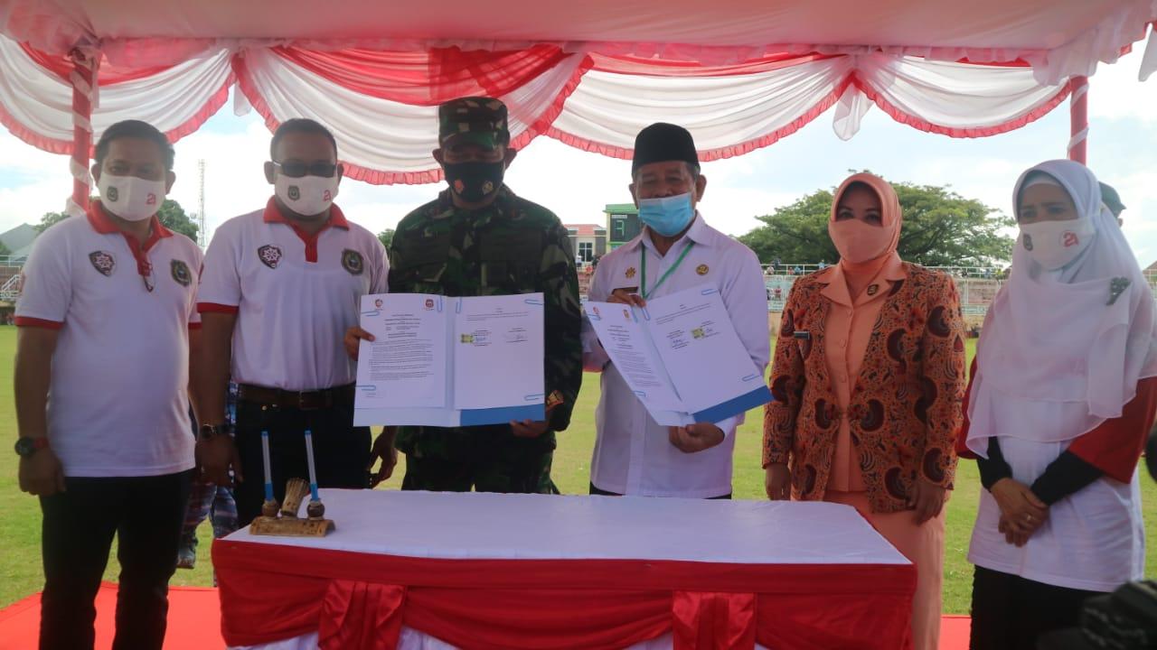 Bangun SMKS Dirgantara, Gubernur dan Pangkoops III Wilayah Timur Lakukan MoU